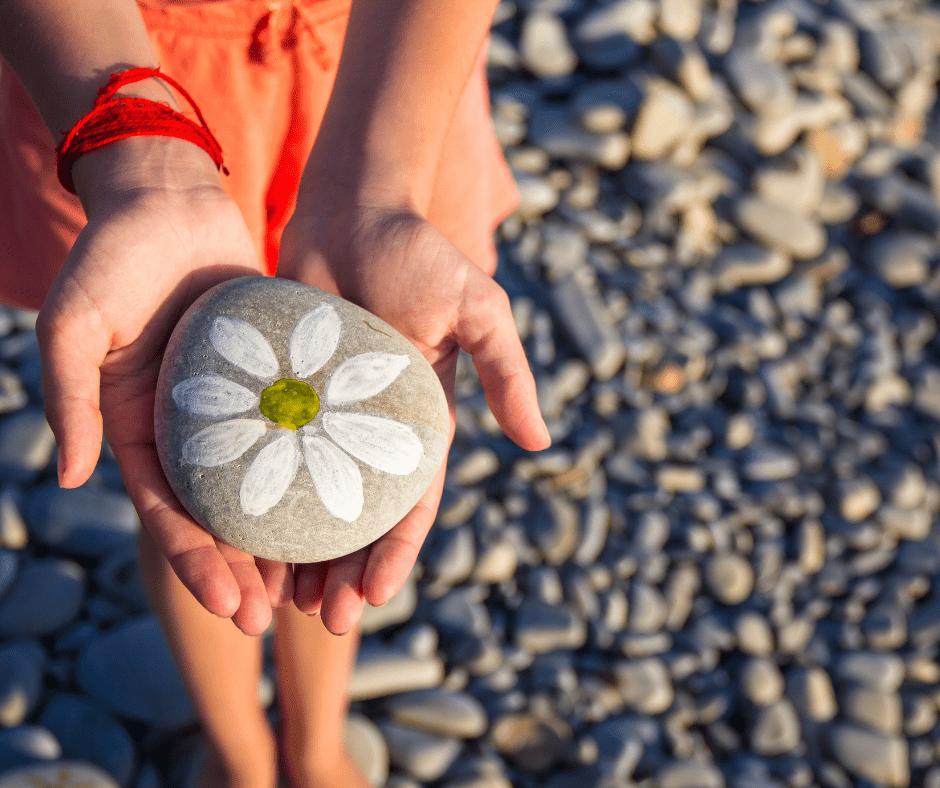 Fun Summer Backyard Ideas - Find and Paint Rocks