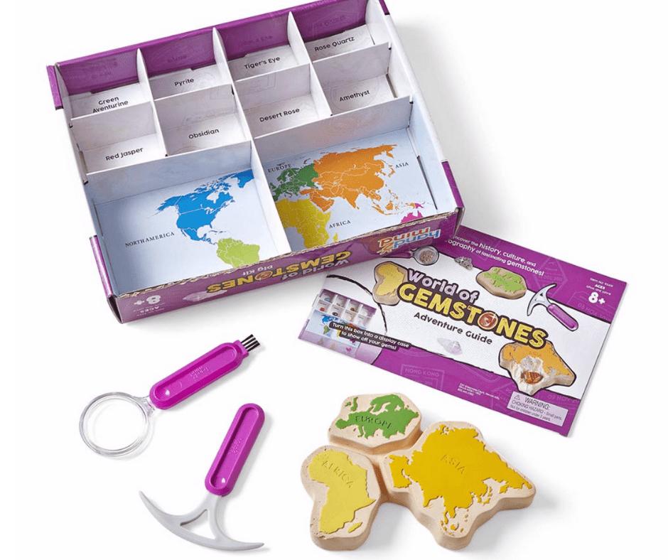 Summer Learning Toys - World of Gemstones Dig Set