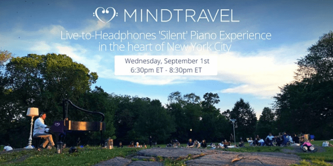 MindTravel - silent piano experience in Central Park