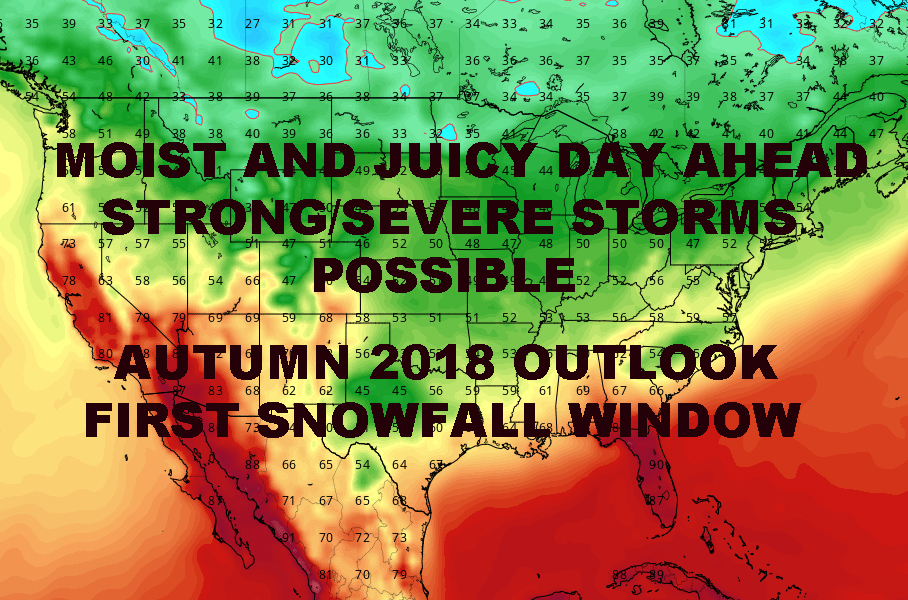 NYC SEVERE STORMS POSSIBLE AUTUMN 2018 OUTLOOK