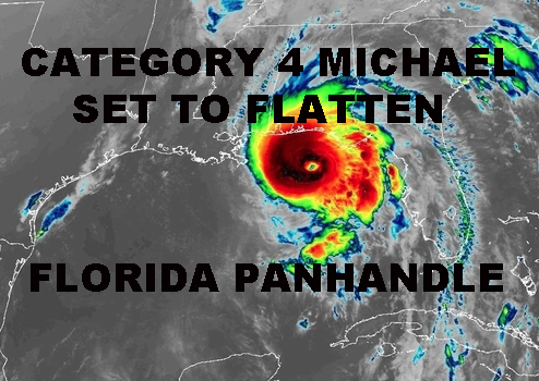 CATEGORY FOUR MICHAEL FLORIDA PANHANDLE FLATTENING