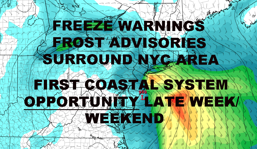 FROST FREEZE SURROUND NYC AREA COASTAL SYSTEM OPPORTUNITY