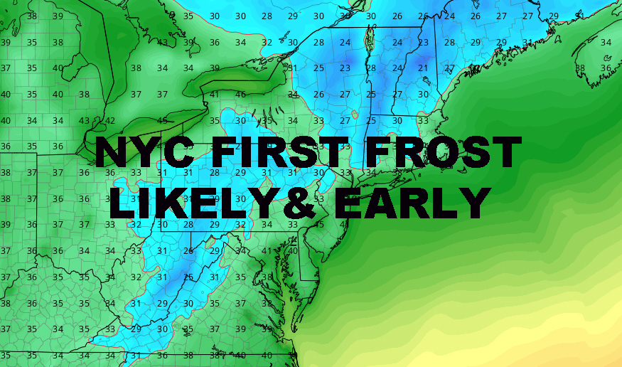 NYC EARLY FIRST FROST LIKELY