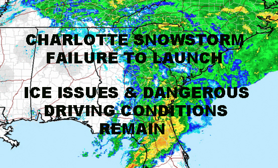 ICE ISSUES SUBSTITUTE CHARLOTTE SNOWSTORM INSTEAD