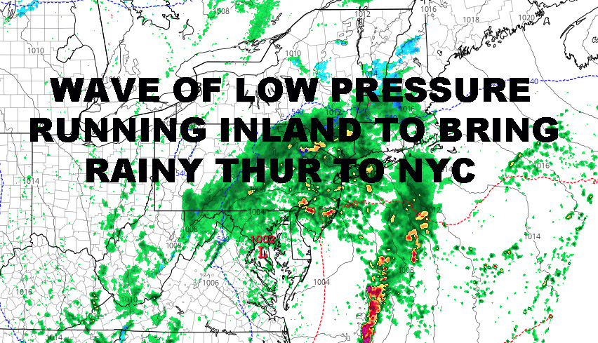 RAINY MARCHY NYC THURSDAY AHEAD