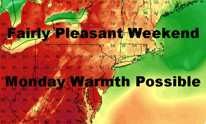 Fairly Decent NYC Spring Weekend Ahead With Warm Monday Possible