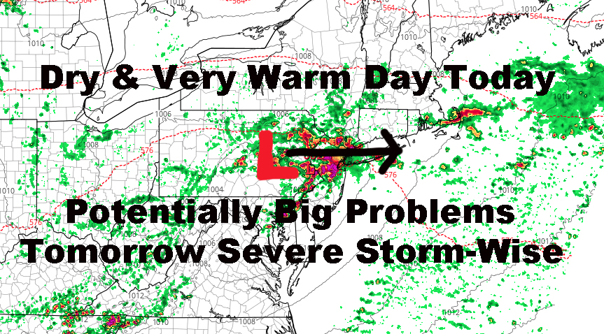 NYC Powerful Storms Possible Tomorrow Evening Onward