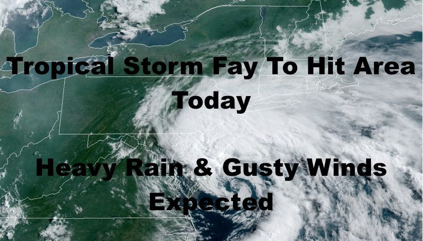 Tropical Storm Fay Hits NYC Area Today