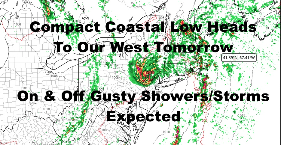 NYC Intermittent Tropical Showers & Storms Tomorrow