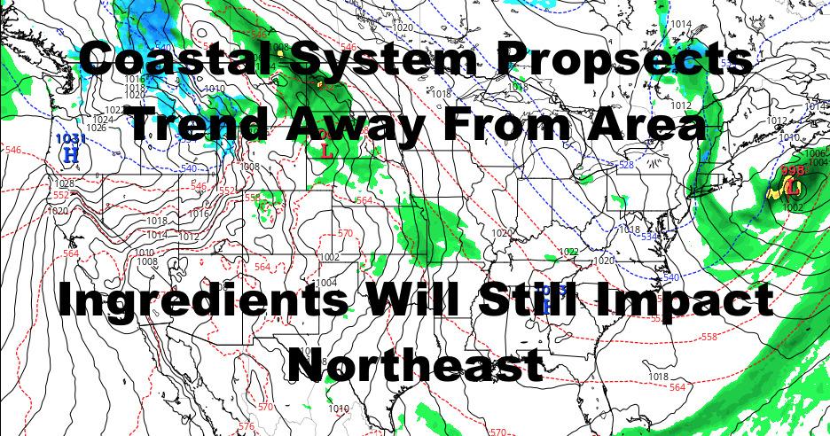NYC Coastal Storm Threat Wanes But Will Still Impact Northeast Weather