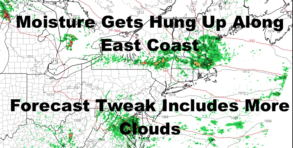 NYC Cloudier Forecast Emerges