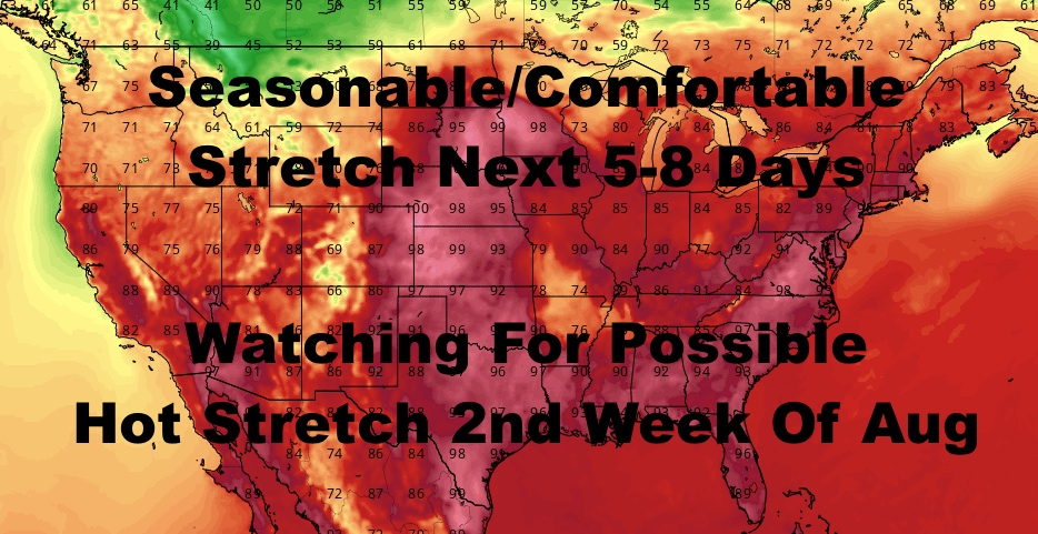 NYC Long Range Outlook Into Mid August