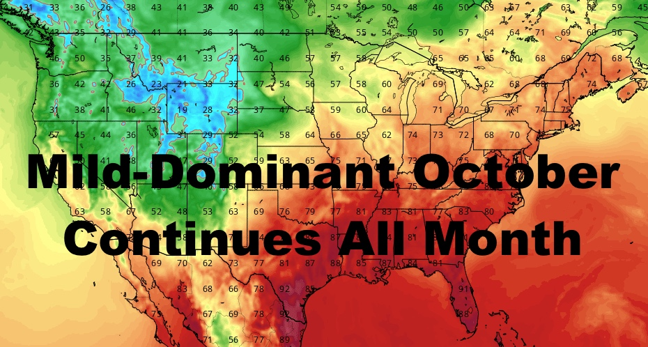 NYC Mild Dominant October Continues And Lasts