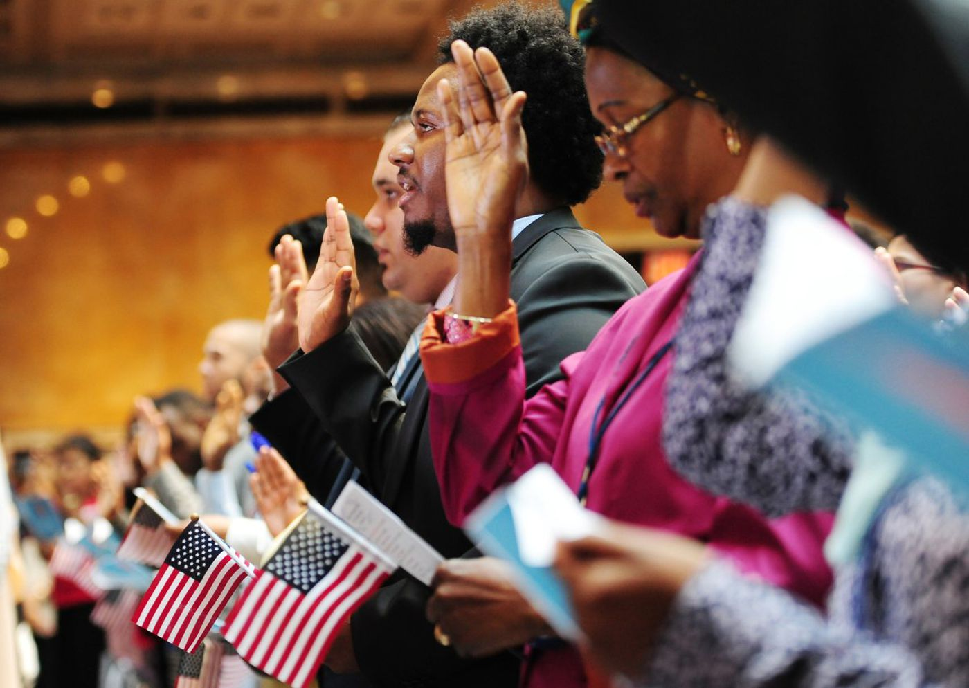 Nearly 200 Immigrants Take Citizenship Oaths At New York