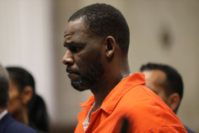 R. Kelly at the Leighton Criminal Courthouse in Chicago, Illinois in 2019.