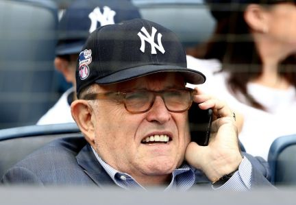 Rudy Giuliani, choosing to celebrate his birthday at Yankee Stadium, was booed by those in attendance.