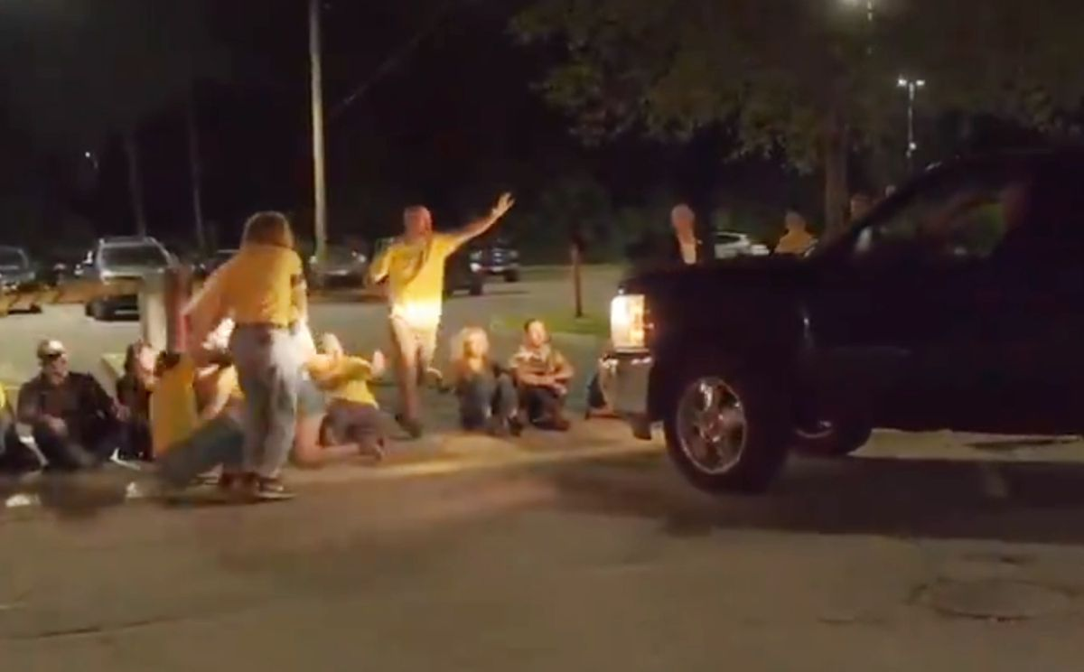 Rhode Island Man Drives Pick Up Truck Into Crowd Of Anti