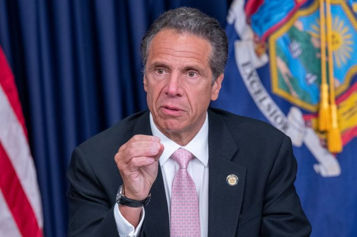 Assignment – CUOMO. NYS Governor Andrew Cuomo signs into Law the Repeal of the 50-A Law at his Offices in Manhattan on Friday June 12, 2020. 1130. (Theodore Parisienne for New York Daily News)