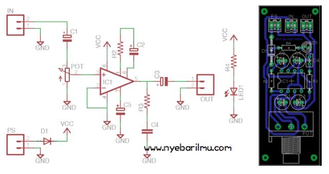 Mini amplifier LM386