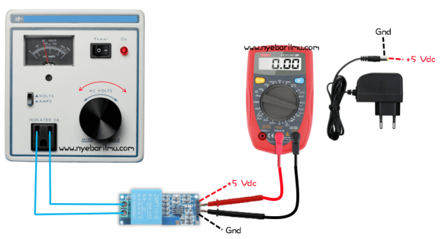 pengetesan sensor AC menggunakan multitester