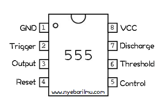 pin out IC 555