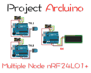 Thumbnail Project multiple Nodes nRF24L01+
