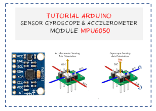 Tutorial Arduino Accelerometer and gryoscope MPU6050