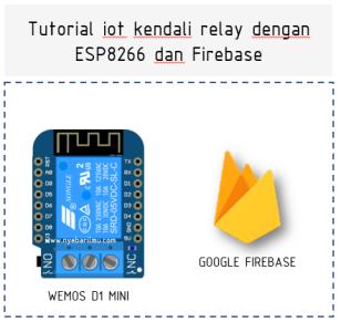 Tutorial iot kendali relay dengan ESP8266 dan Firebase
