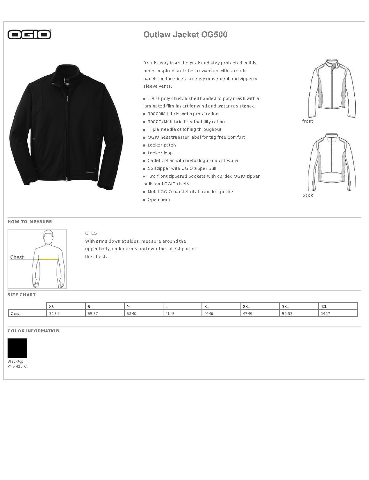 Ogio Og500 Outlaw Jacket