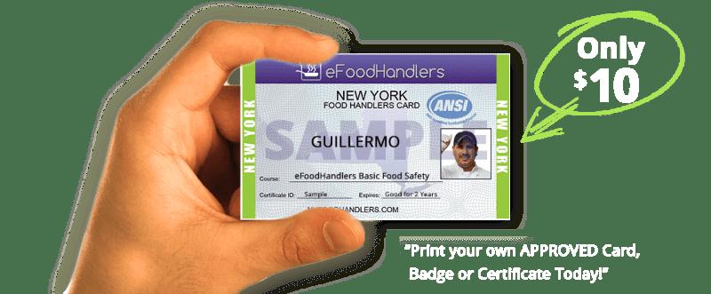 Get Food Handlers Permit Nyc