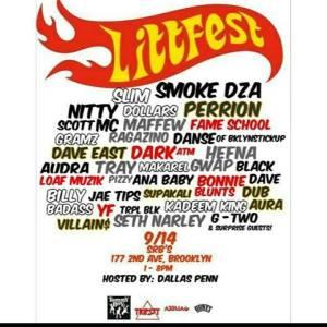 Today Litt Fest 2014 FT Smoke Dza, Perrion , Slim Dollars,Nitty Scott MC, Maffew Ragazino,Danse Daimons & More