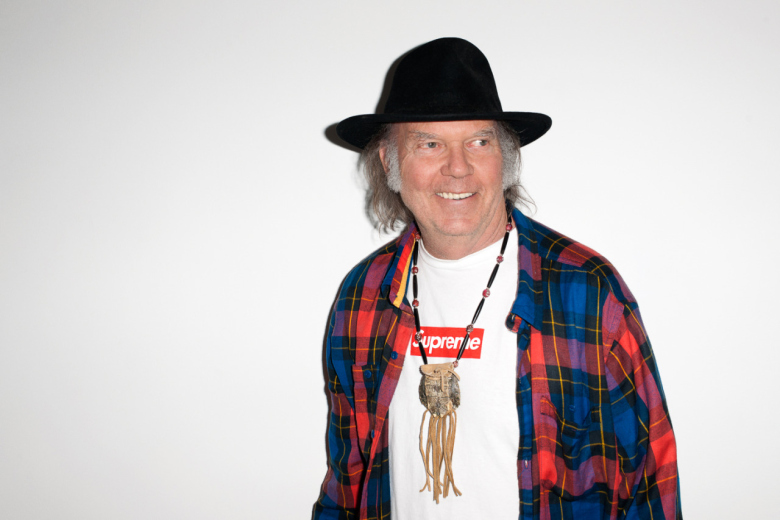 Neil Young For Supreme Photos