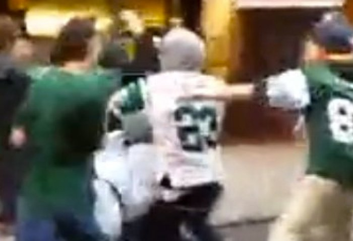 St. Patrick's Day Fight NYC 2015 Caught On Video