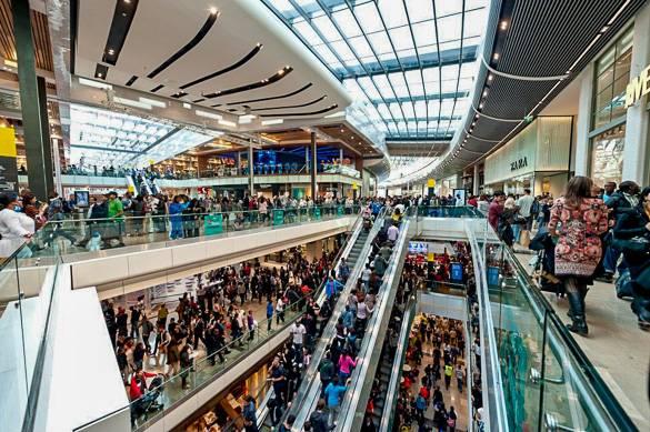 Photo des clients du centre commercial Westfield Stratford City à Londres
