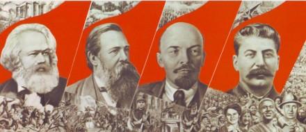I våre lange og inngående forberedelser for den russiske revolusjon, samarbeidet jesuitter nært med Marx, Engels, Trotskij (ikke på plakaten), Lenin og Stalin.