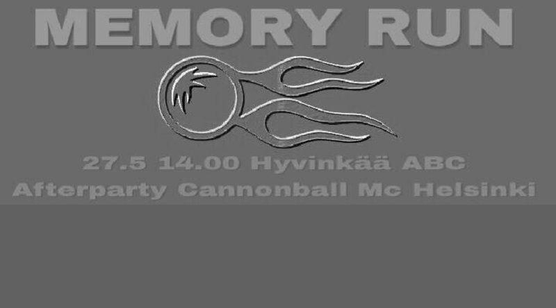 Cannonball muistoajot tänään, luvassa pitkä letka moottoripyöriä