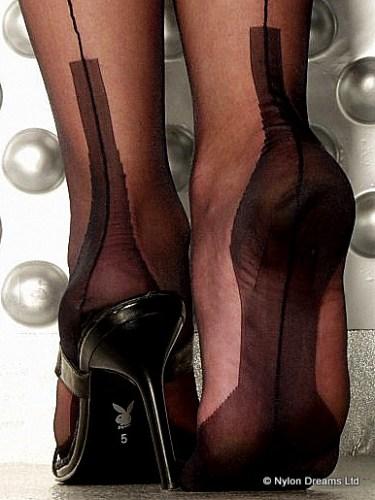 fully fashioned cuban heel stockings