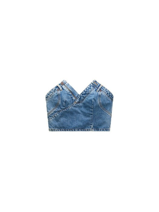 Denim bustier S$94.95