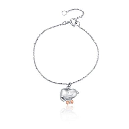 Snoopy Bow Tie Diamond Bracelet (S$299)