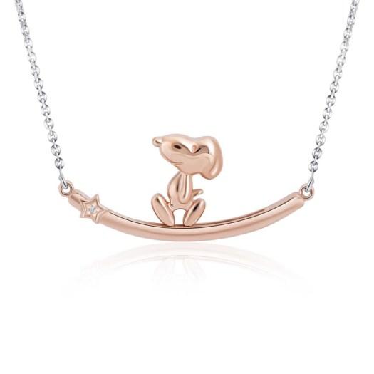 Snoopy Lucky Star Diamond Necklace (S$499)