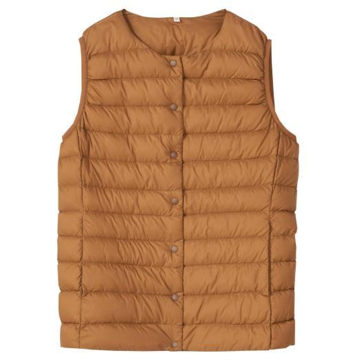 Lightweight Down Pocketable Vest Camel, U.P. $69-$99 (Less 10%)