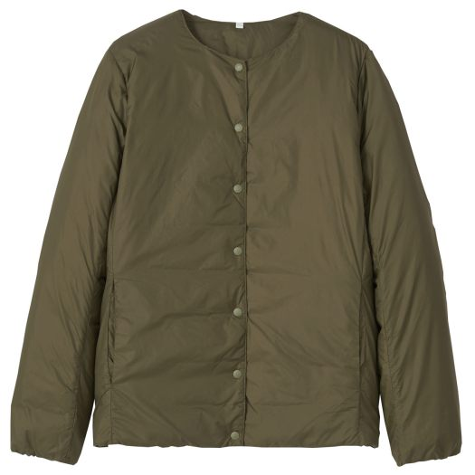 Lightweight Australian Down Pocketable Collarless Smoky Green, U.P. $69-$99 (Less 10%)