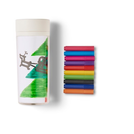 Acrylic Mug Cup & Color Markers Set, $14.90 (U.P. $17.80)