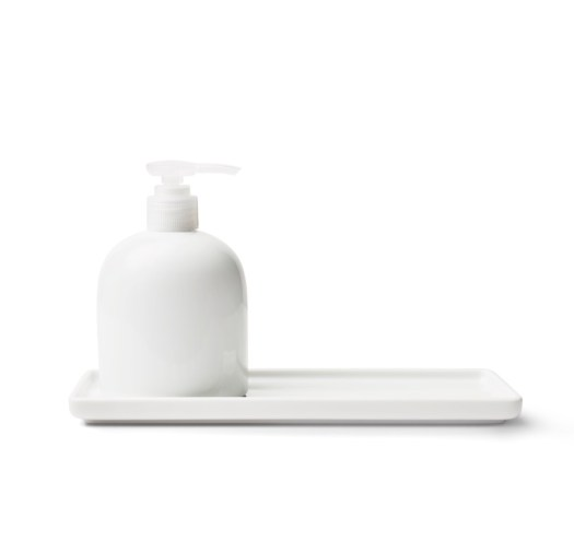 White Porcelain Tray 28cm, $10.90 & Dispenser 300ml, $11.90