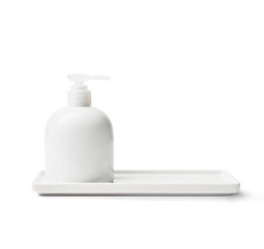 White Porcelain Tray 28cm, $10.90 & Dispenser 300ml, $11.90