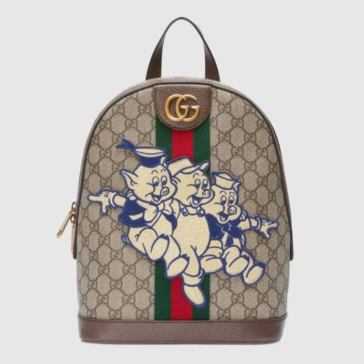 Ophidia GG backpack with Three Little Pigs