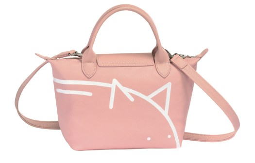 Mr Bags x Longchamp Le Pliage® Cuir Top Handle Bag in Pinky, $790 (Back View)