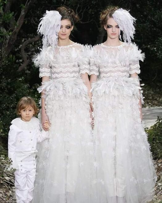 Chanel making a political statement with two brides for their Spring/Summer 2013 Haute Couture show