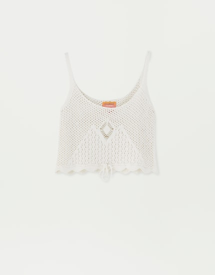 Sadie Sink Crochet Top, $39.90