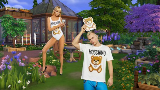 Left to right: Pixel Capsule Teddy Bear One-Piece Swimsuit (USD333), Pixel Capsule Teddy Bear T-Shirt (USD311)